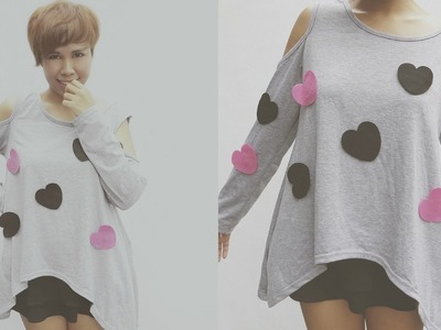 DIY FASHION: K-Pop Inspired Heart T-Shirt ( Changeable designs)