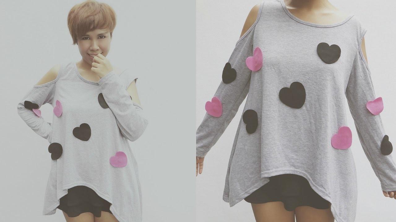DIY FASHION: K-Pop Inspired Heart T-Shirt ( Changeable designs)