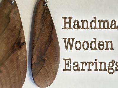 DIY Handmade Wooden Earrings
