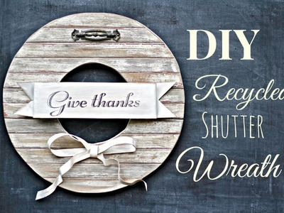 DIY how to create a distressed finish from aged wood, and transferring graphics with freezer paper