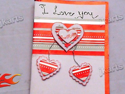 "DIY How to make ""I Love you"" Greeting card 1 - JK Arts 150"