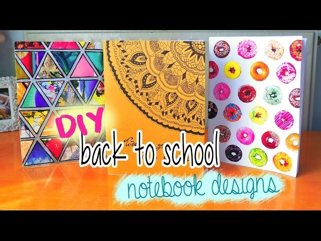 DIY Notebooks for back to school! Doughnuts, Tumblr & more! DIY supplies