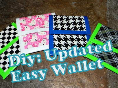 Diy:Updated Duct Tape Easy Wallet