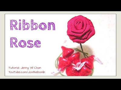 DIY Valentine's Day Crafts - How to make a Rose from Ribbon - DIY Rose Flower