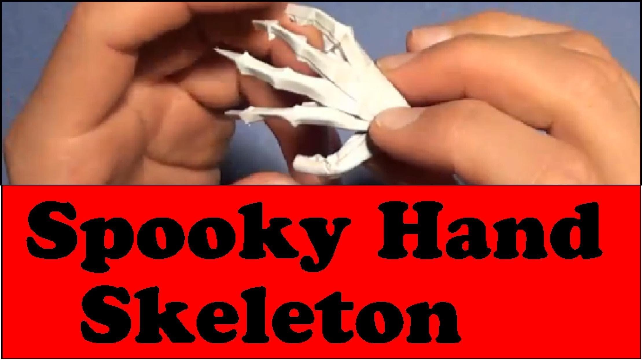 Fold a Spooky Origami Hand Skeleton! Designed by Jeremy Shafer