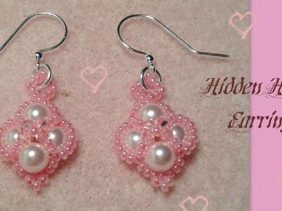 Hidden Hearts Earrings Beading Tutorial by HoneyBeads1