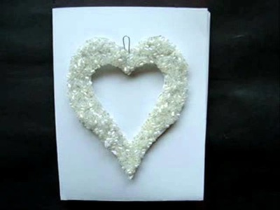 How to make a BEADED HEART VALENTINE CARD.