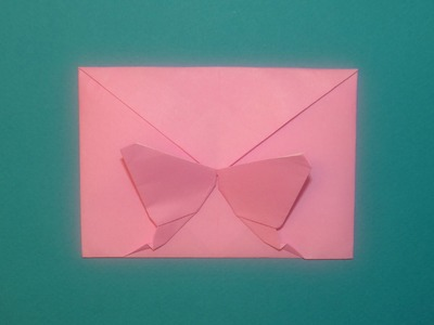 How To Make A Decorative Origami Butterfly Envelope - Valentine, Christmas and Birthdays!