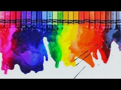 How to Make a DIY Melted Crayons on Canvas