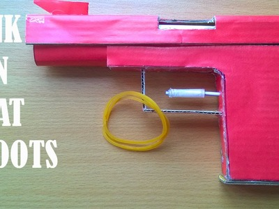 How to make a Paper Pink Gun that shoots with Rubber band - Part 1