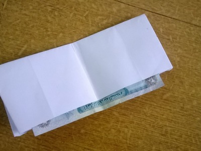 How to make a paper Wallet  : Origami 6