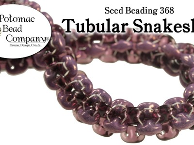 How to Make a Tubular SuperDuo Snakeskin Bracelet (Seed Beading 368)