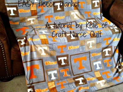 How to make an EASY Fleece Blanket