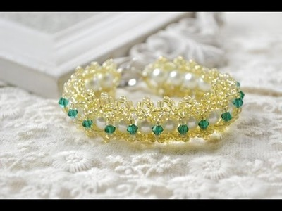 How to Make an Embedded Double Beaded Lace Bracelet