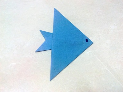 How to make an origami fish.