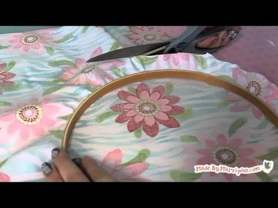 How to Make Embroidery Hoop Bulletin Boards
