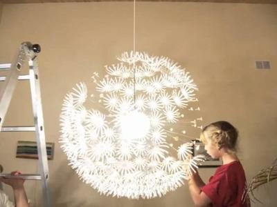 Ikea Snowflake Maskros Lamp STOP MOTION Assembly!