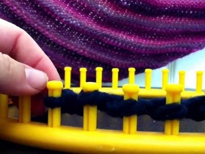 Loom Knit Boomerang Shawl