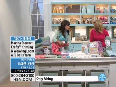 Martha Stewart Crafts Knitting and Weaving Loom with 2 B.