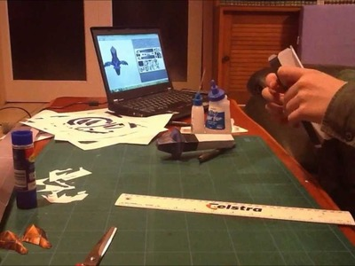 Master Sword Papercraft Timelapse (part 3)