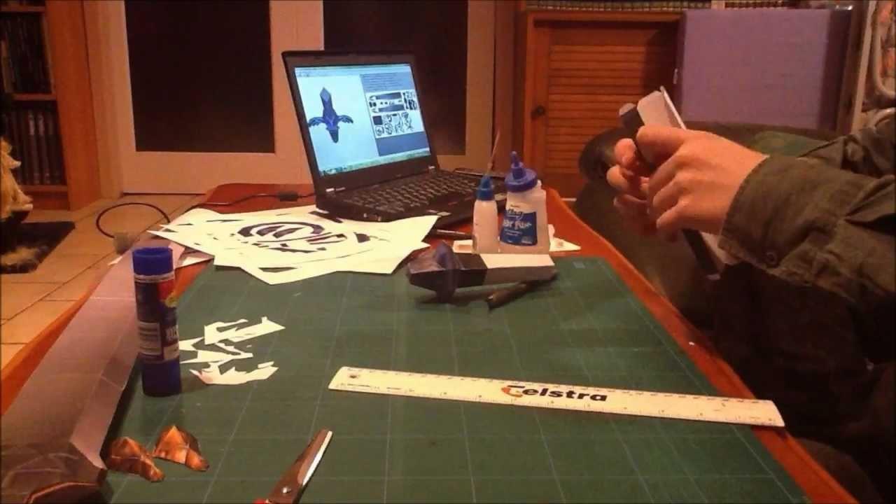 Master Sword Papercraft Timelapse (part 3)
