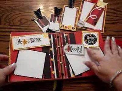 Mickey Mouse scrapbook album ScrapOnThis.com