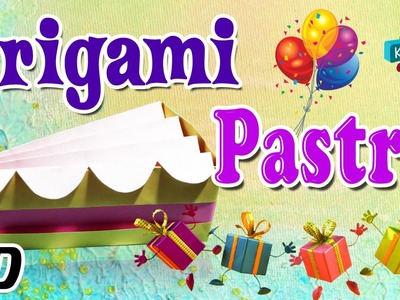 Origami - How To Make PASTRY - Simple Tutorial In English