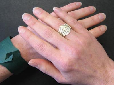 Origami Instructions: Bracelet or Ring (Ioana Stoian)