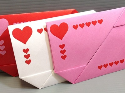 Origami Valentine's Day Gift Card Envelopes - Print at Home