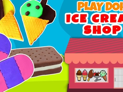 Play Doh Ice Cream Shop | Easy DIY Play Doh Toys Creation | Popsicles and Cupcakes Collection