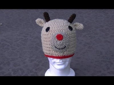 Reindeer Hat Crochet Tutorial