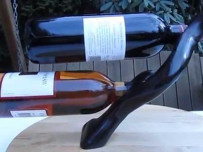 Self Balancing Double Wine Bottle Holder - www.HeartwoodGifts.com