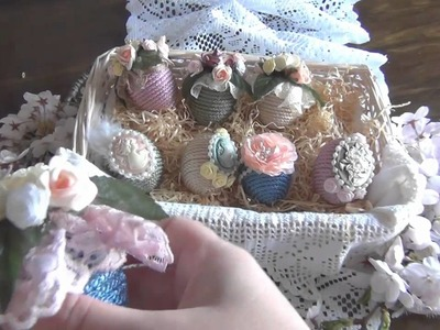 Shabby Chic Easter Cameo Eggs