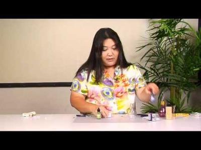 The Joy of Crafting 166.2 - Alcohol Inks on Glass Lightbulb Bottle