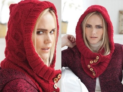 #29 Hooded Neck Piece, Vogue Knitting Fall 2011