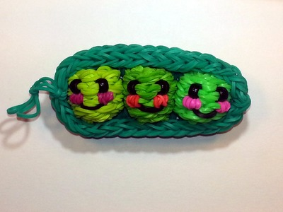 3-D Happy Peas in a Pod Tutorial by feelinspiffy (Rainbow Loom)