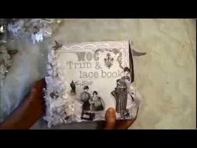 Accordion Lace book for my WOC laces and trims  Wild Orchid crafts Design team project