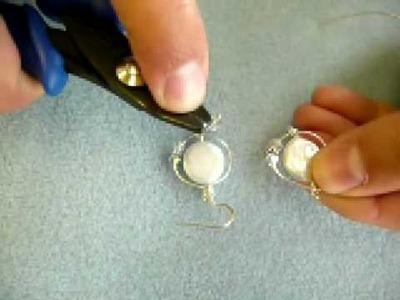 Beading Tutorial:  Freeform Wire Earrings, Version #1