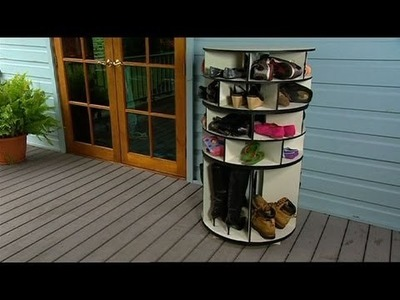 Better Homes and Gardens - DIY: Lazy Susan shoe storage