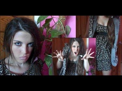Cave-girl Tutorial! (Make-up, Hair, Outfit, DIY-Hair Bone!)