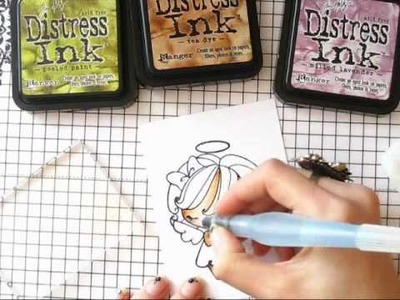 Coloring with  Distress Ink