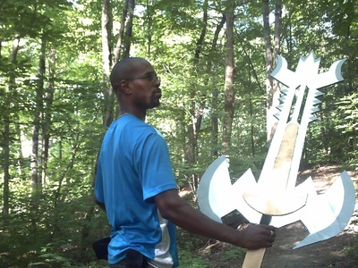 Cosplay: Ultimate How to Make a giant Paper Sword. Cardboard Sword