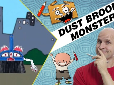Crafts Ideas for Kids - Dust Broom Monster | DIY on BoxYourSelf