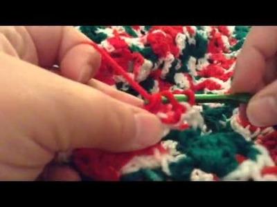 Crochet Christmas blanket 2