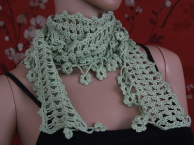 Crochet Scarf Tutorial Part 1 of 4 (Pattern #4)