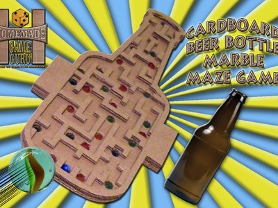 DIY Beer Bottle Marble Maze Game