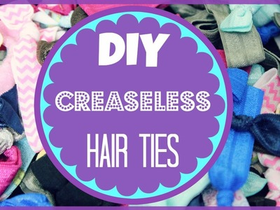 DIY Creaseless Hair Ties | Alexa's DIY Life