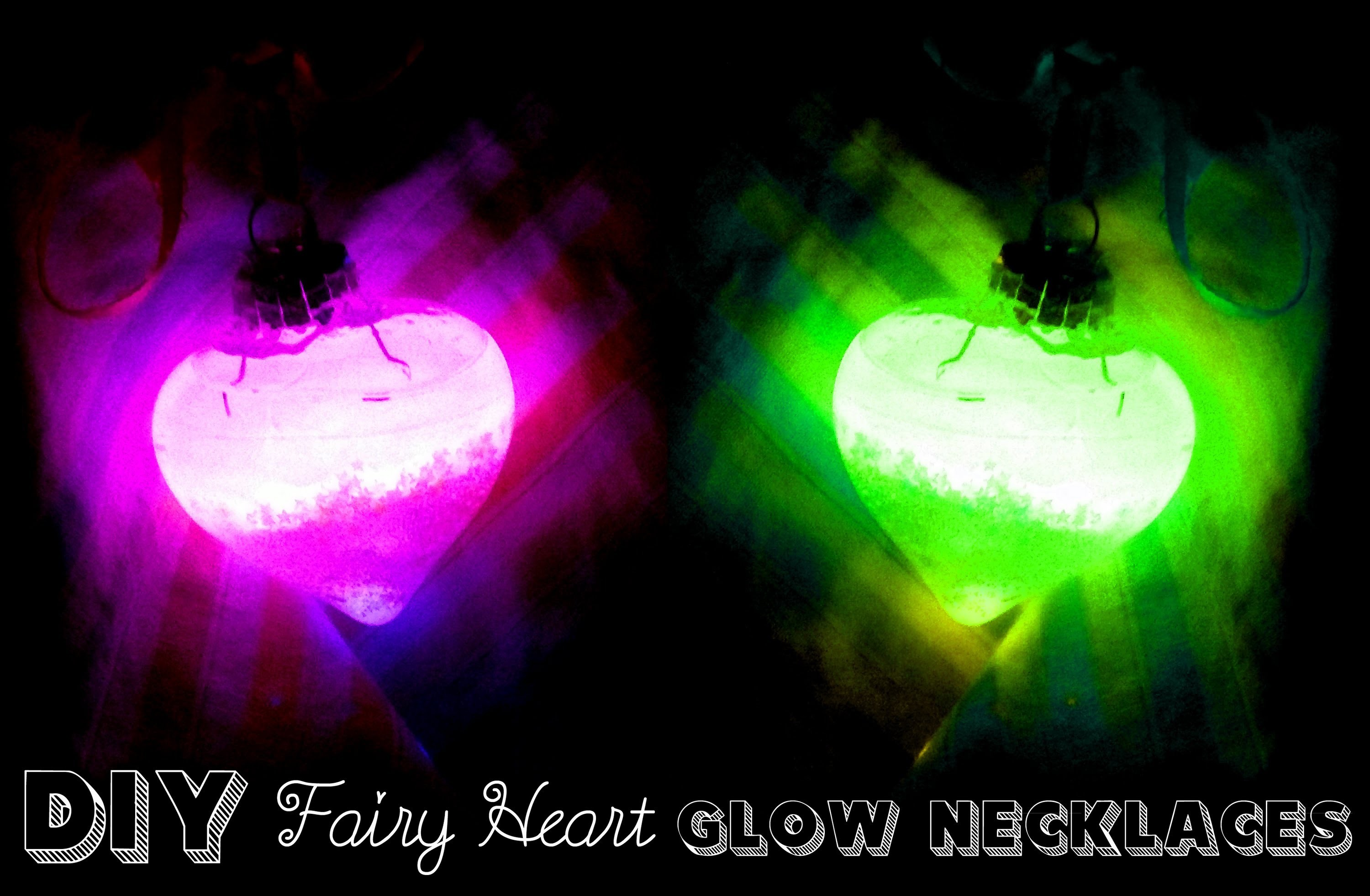 DIY fairy glow necklace!