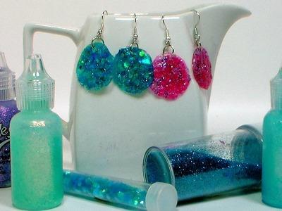 DIY Glitter Glue Earrings!