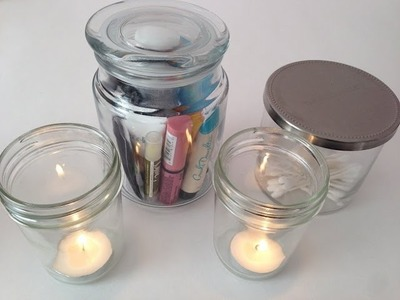 DIY Home Decor: What to do with burned out candle jars